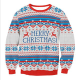 MERRY CHRISTMAS Patterned Ugly Christmas Sweaters