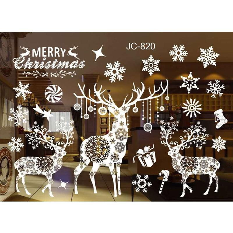 Christmas DIY Snow Town Wall Stickers