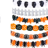 Pumpkin Scary Witch Garland Halloween Paper