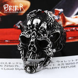Punk Skull ring Stainless