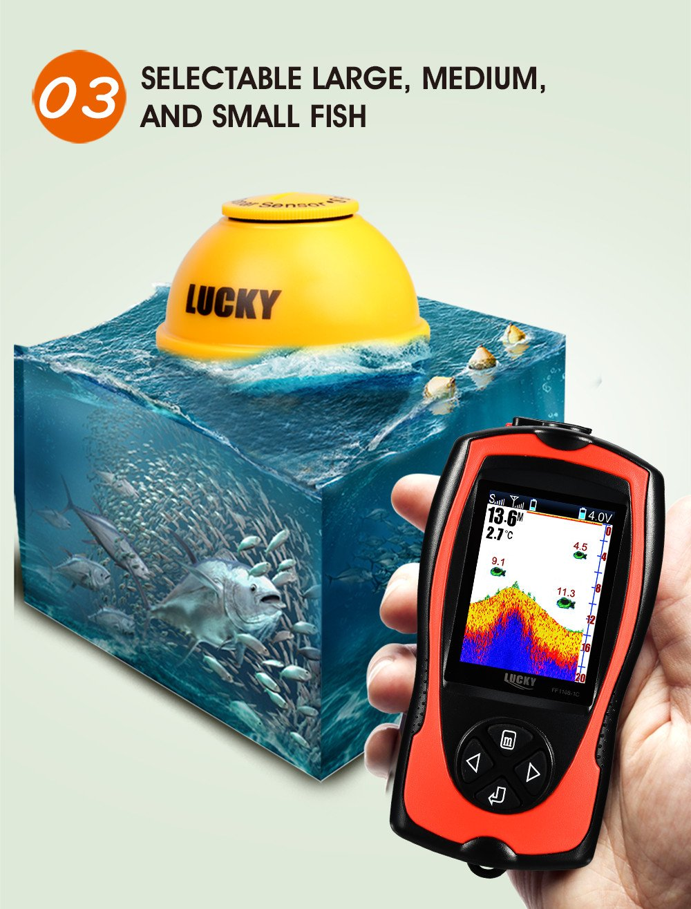 Wireless Remote Sonar Sensor Fish Finder