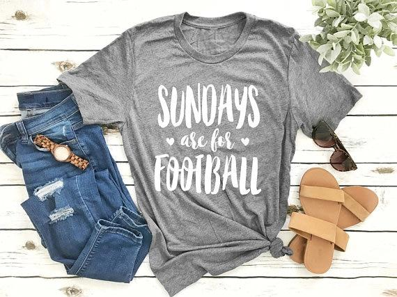 SUNDAYS are for FOOTBALL - Cute Boyfriend T-Shirt