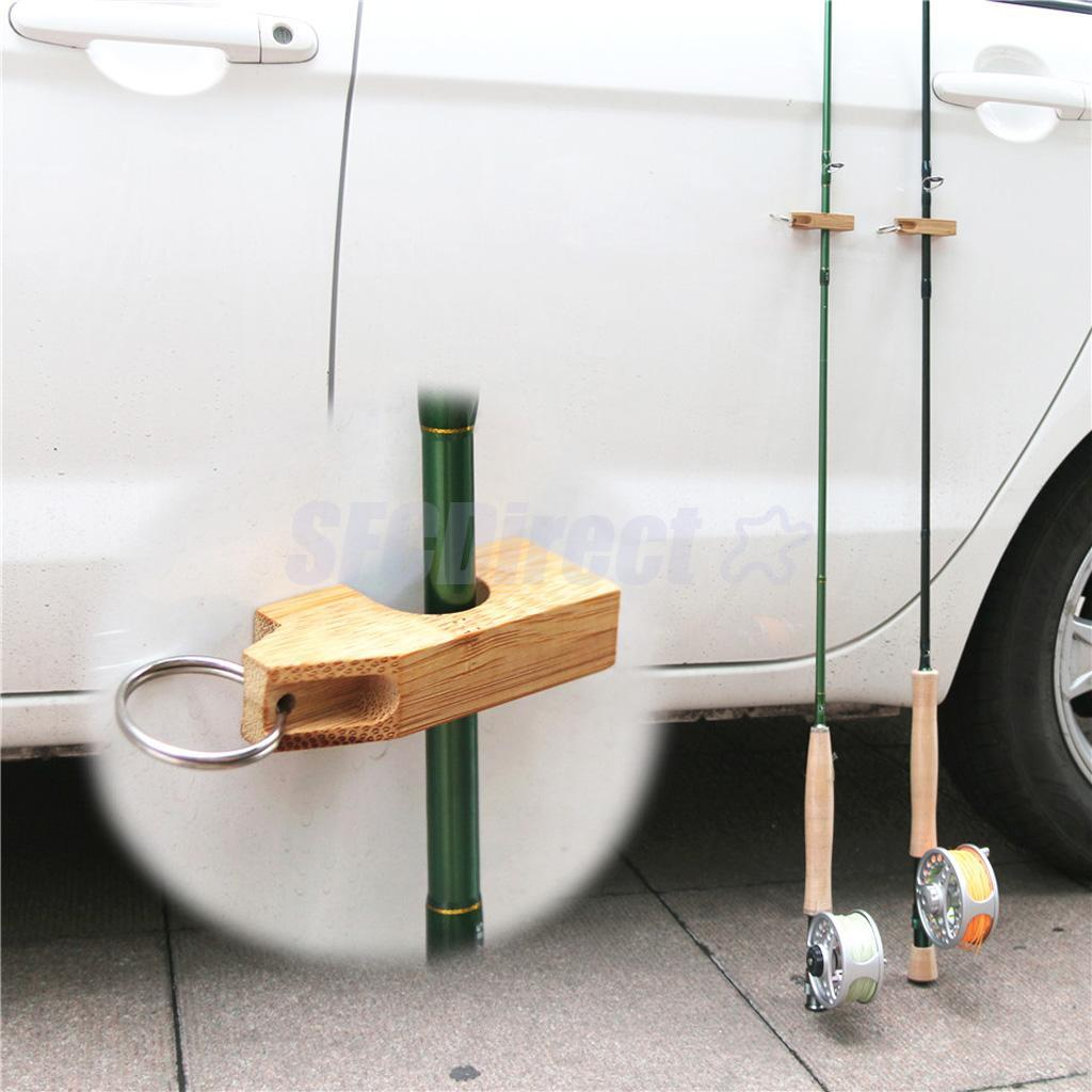 Fishing Rod Holder Attaches to Car