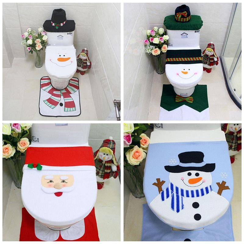Christmas Decoration Toilet Seat Cover