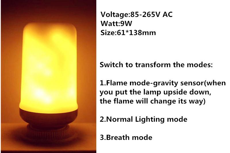 Gravity Sensor Flame Lights