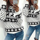 Christmas Deer Snow Pattern ugly sweater