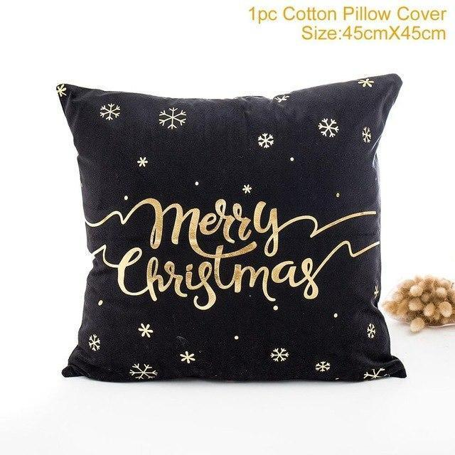 Merry Christmas Santa Claus Deer Cushion Covers