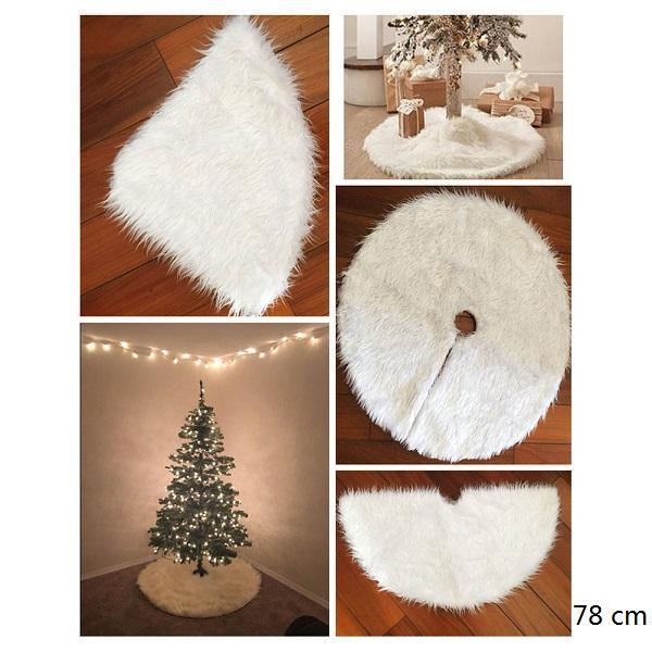 Red White Christmas Tree Skirt Carpet
