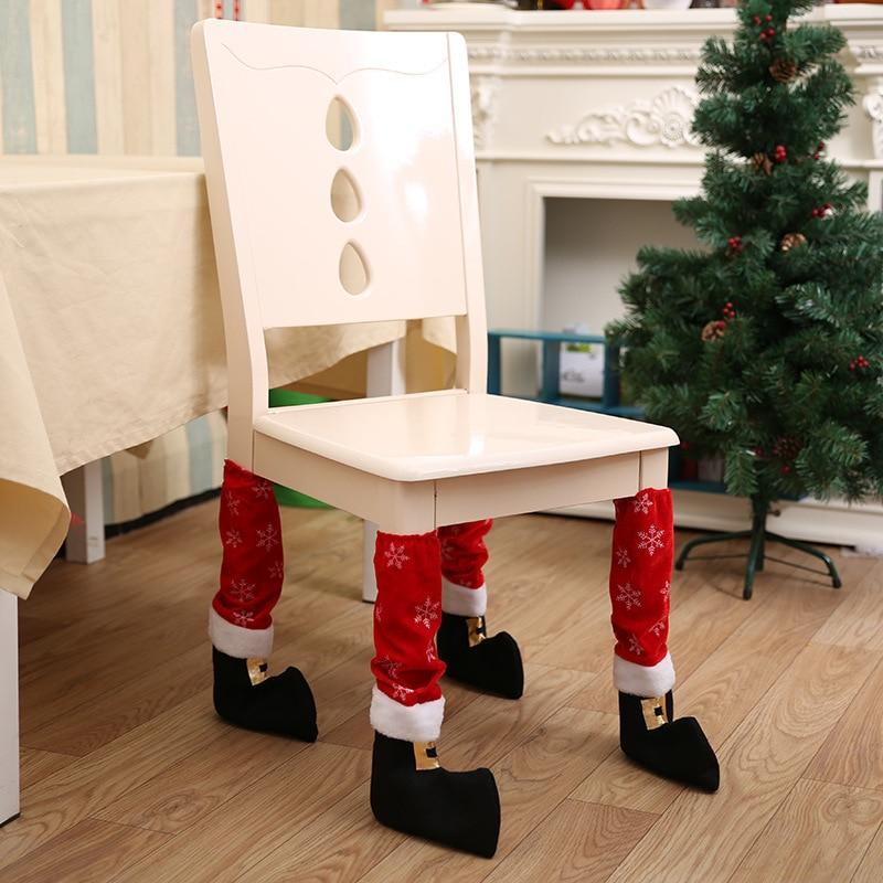 Table Leg Chair Foot Christmas Covers