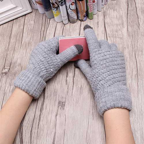 Warm Winter Knitted Full Finger Gloves
