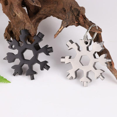 18 in 1 Multi-Tool Snowflake Key Chain Tool