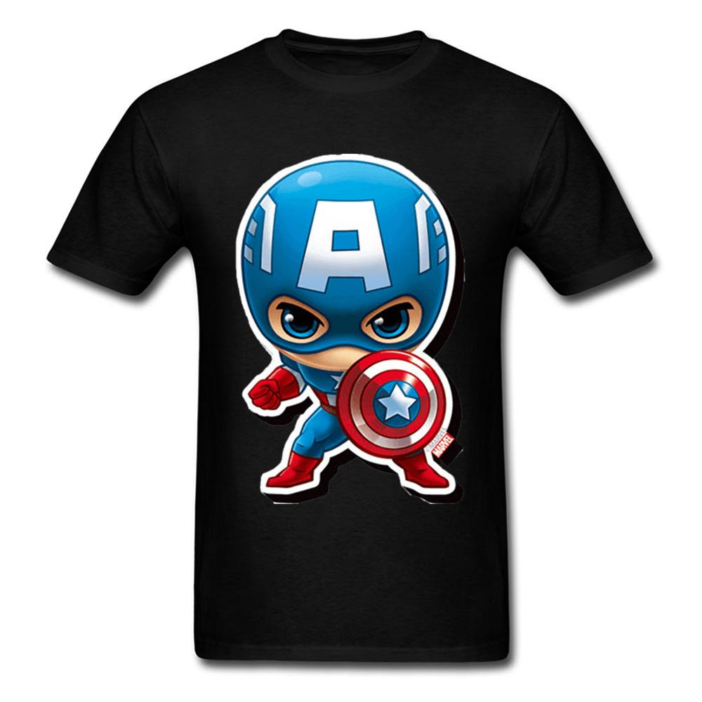Captain America Kawaii Chibi Cute Boyfriend T-Shirt Gift