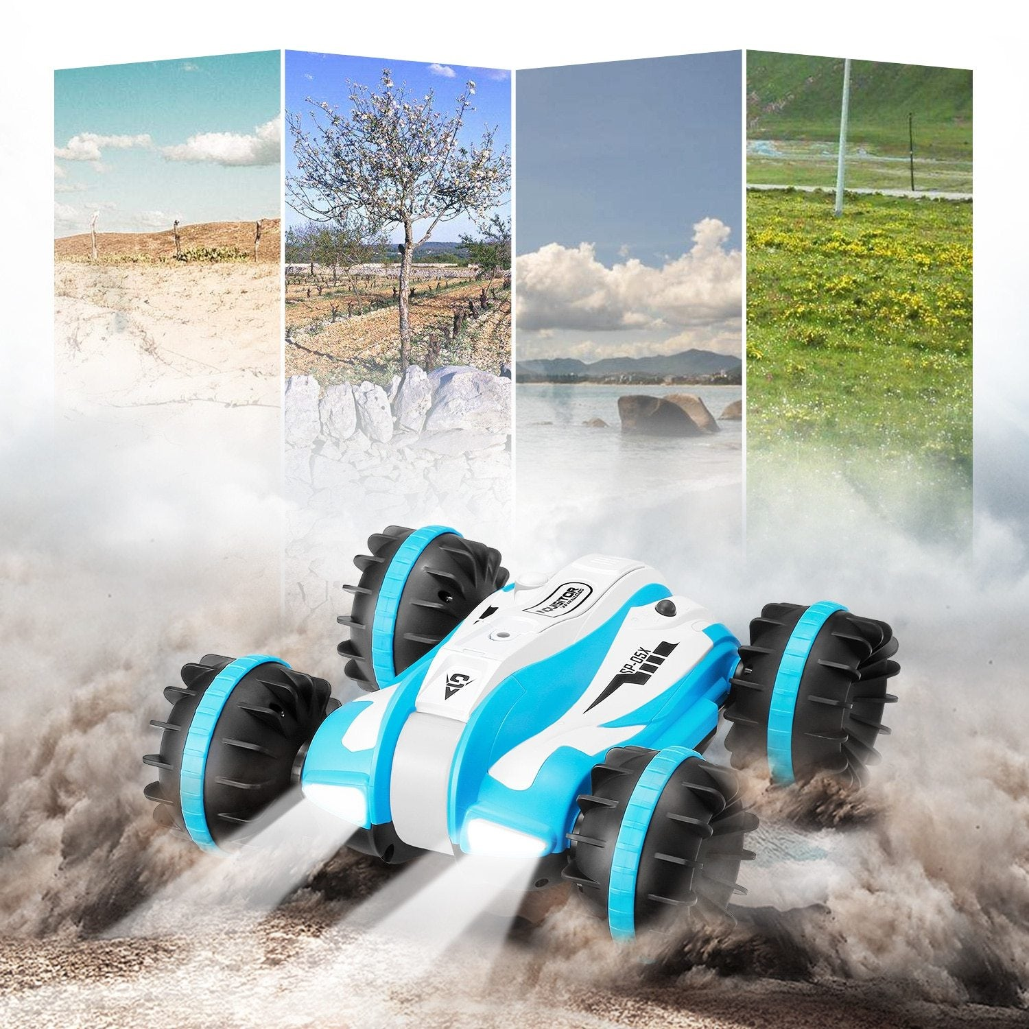 2.4GHz RC Car 6-Channel 1:12 Scale 360-Degree Rotation Stunt RC Car