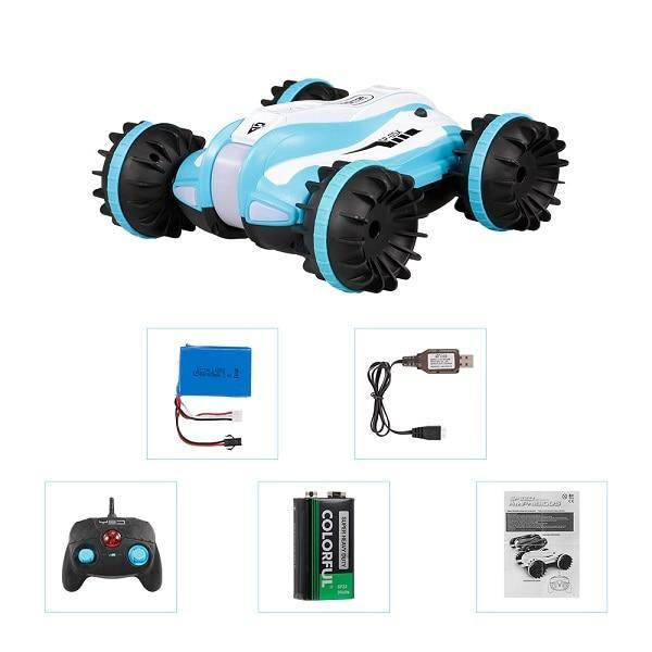 1:12 4WD Tracked RC Car, Amphibious, 360 Degree Rotation, Land and Water RC Car