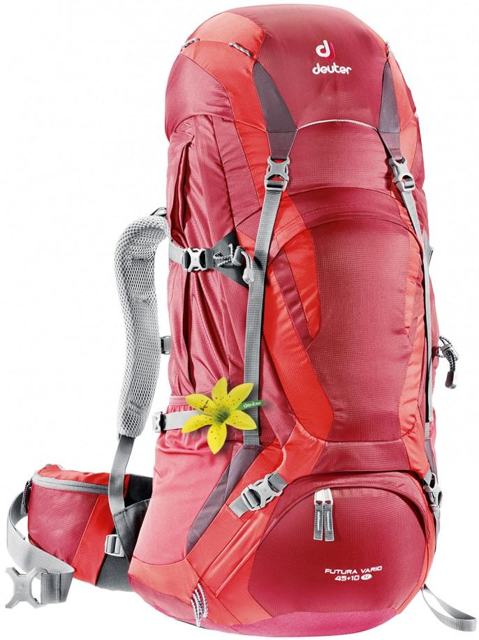 Deuter Futura Vario 45+10 SL Cranberry-Fire - Backpackers Gallery