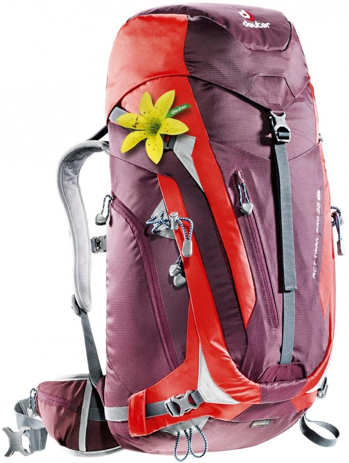 Deuter ACT Trail Pro 38 SL CH Aubergine-Fire - Backpackers Gallery backpacks bag