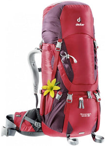 Deuter Aircontact 40 + 10 SL (2016) Cranberry-Aubergine - Backpackers Gallery backpacks bag