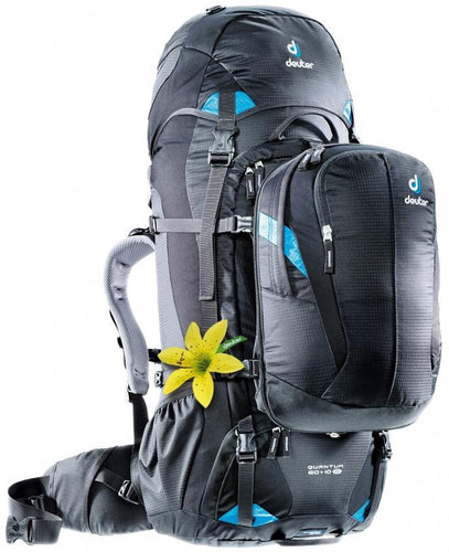 Deuter Quantum 60 + 10 SL Black-Turquoise - Backpackers Gallery backpacks bag