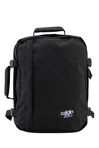 Cabinzero Mini ultra light cabin bag with luggage trackers 28L Absolute black - Backpackers Gallery