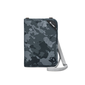PACSAFE RFIDSAFE V150 COMPACT ORGANISER (GREY CAMO) - Backpackers Gallery backpacks bag