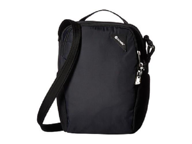 PACSAFE VIBE 200 COMPACT TRAVEL BAG (BLACK) - Backpackers Gallery backpacks bag
