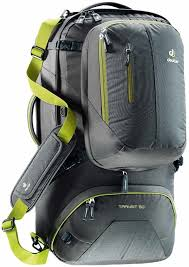 Deuter Transit 50 Anthracite-Moss - Backpackers Gallery backpacks bag