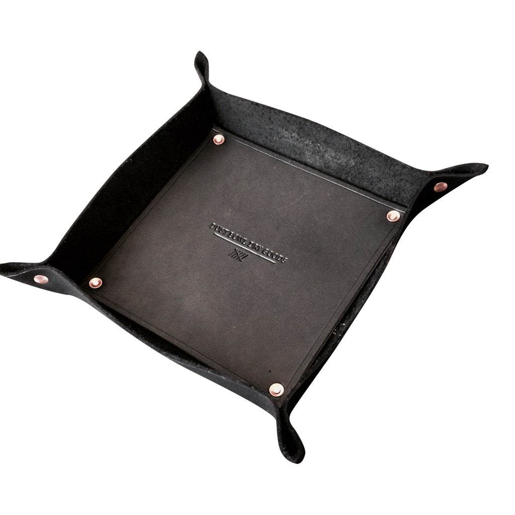 Leather Valet Tray, sort