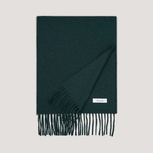 British Racing Green Wool Scarf