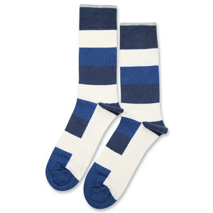 Sokker, Originals Heavy Stripe New Blue / Off White / Shaded Blue