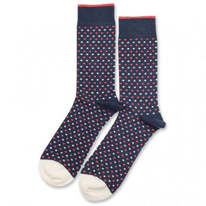 Sokker, Originals Polkadot Shaded Blue / Opal / Off White