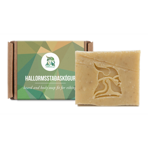 Beard and Body Beer Soap, 50gr, Hallormsstaðaskógur