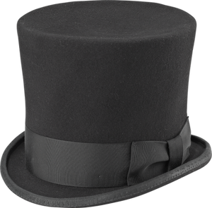 Hatt, 18th Century Topper, svart