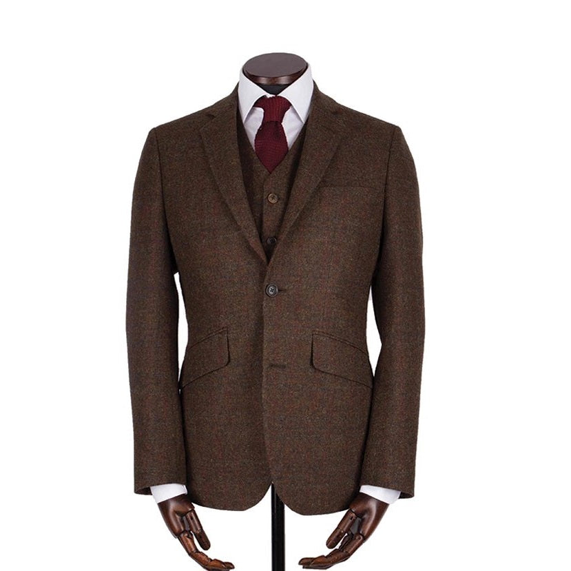 Jakke, Martin, Bronze Triple Windowpane Shetland Tweed