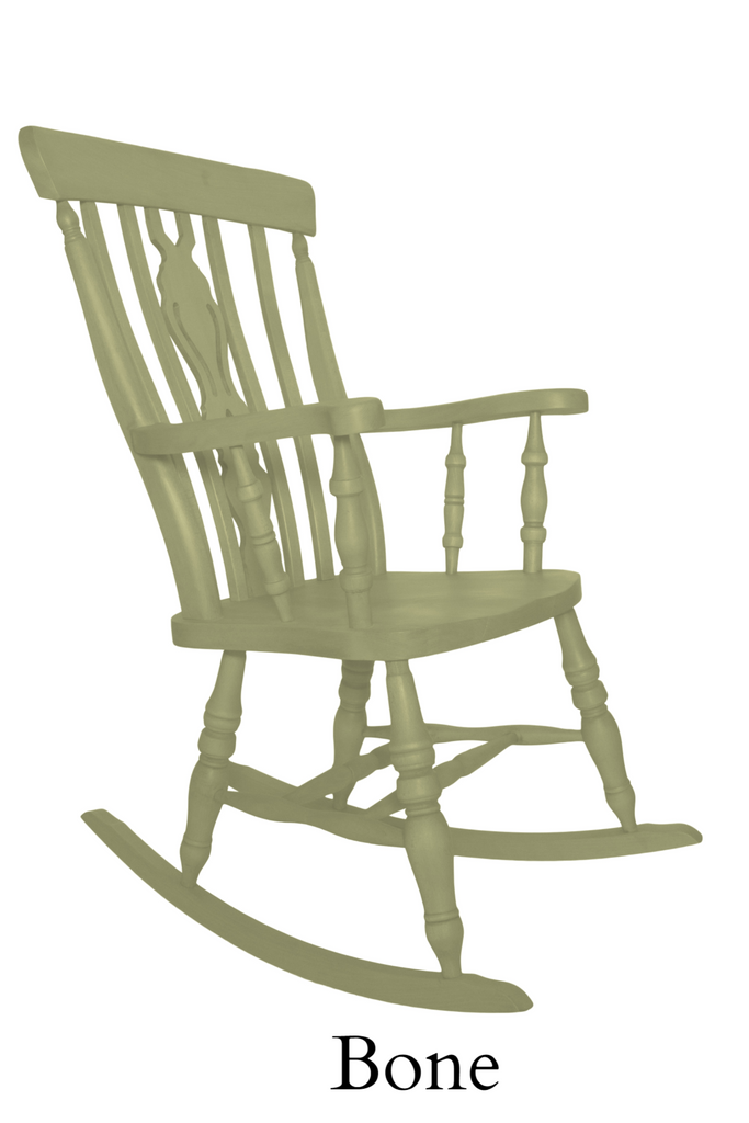 Beech Fiddle Back Rocking Chair Painted Bone - The Rocking Chair