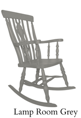 Beech Fiddle Back Rocking Chair Painted Lamp Room Grey - The Rocking Chair