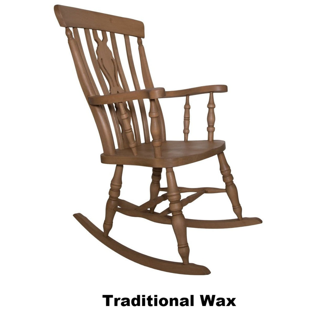 The Rocking Chair Beech Fiddle Back Rocking Chair