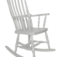 Beech Slat Back Rocking Chair Painted All White