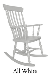 Beech Slat Back Rocking Chair Painted F&B All White