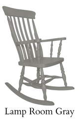 Beech Slat Back Rocking Chair Painted Lamp Room Grey