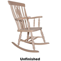 Unfinished Beech Fiddle Back Rocking Chair - The Rocking Chair