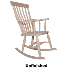 Unfinished Beech Slat Back Rocking Chair - The Rocking Chair
