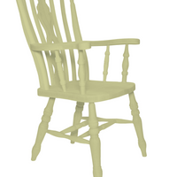 Beech Fiddle Back Grandfather Painted Bone - The Rocking Chair