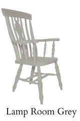 Beech Fiddle Back Grandfather Painted Lamp Room Grey - The Rocking Chair