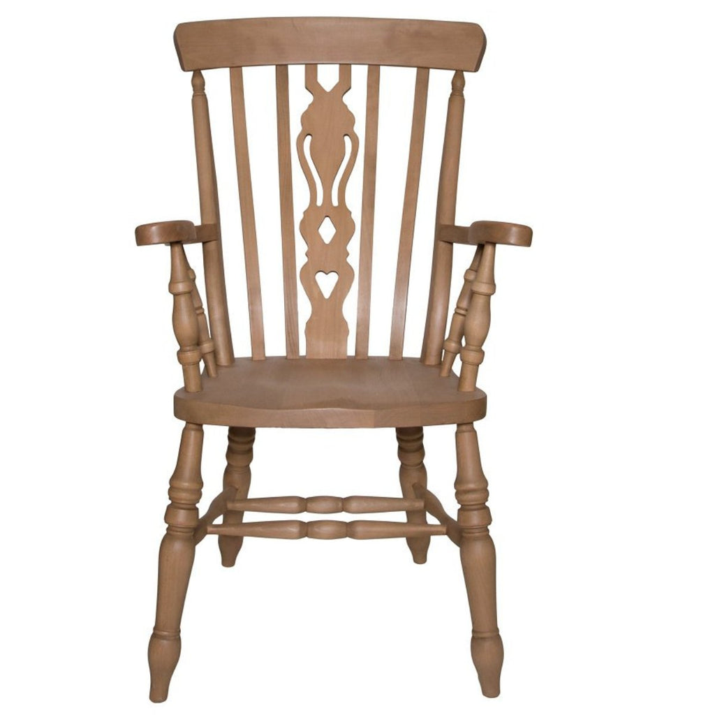 The Rocking Chair Beech Fiddle Back Grandfather Chair