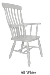 Beech Slat Back Grandfather Painted All White - The Rocking Chair