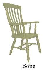 Beech Slat Back Grandfather Painted Bone - The Rocking Chair