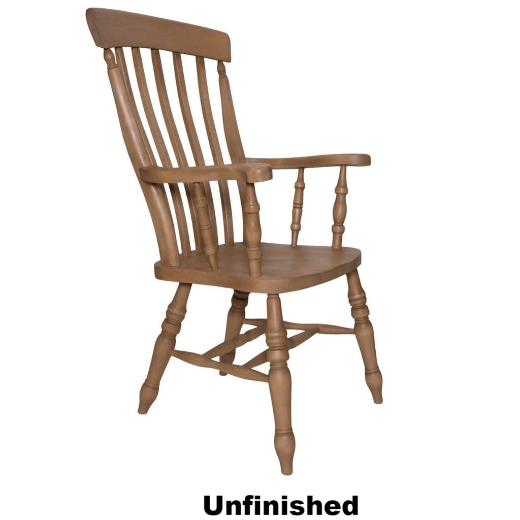 Unfinished Beech Slat Back Grandfather Chair - The Rocking Chair