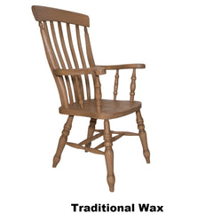 Beech Slat Back Grandfather - The Rocking Chair