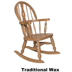 Child's Oak Fiddle Back Rocking  Chair - The Rocking Chair