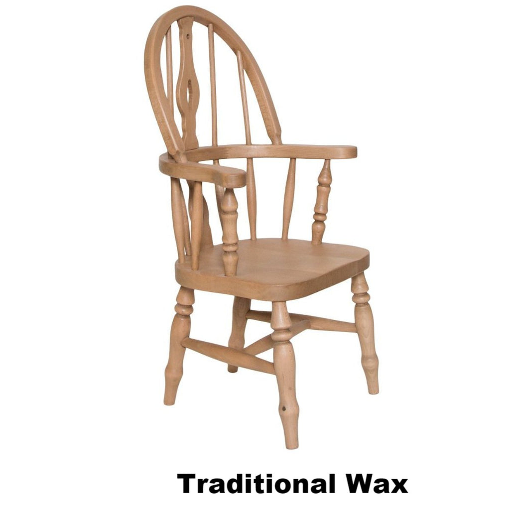 Child's Beech Fiddle Back Grandfather Chair - The Rocking Chair